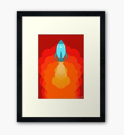 Rocket ship after launch Framed Print