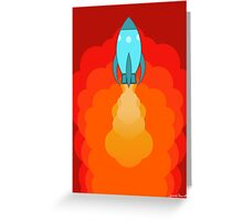 Rocket ship after launch Greeting Card