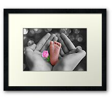 *•.¸♥♥¸.•* PRECIOUS BABY'S FOOT I HOLD IN LOVE*•.¸♥♥¸.•* Framed Print