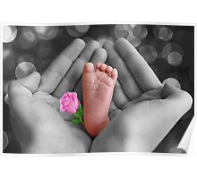*•.¸♥♥¸.•* PRECIOUS BABY'S FOOT I HOLD IN LOVE*•.¸♥♥¸.•* Poster