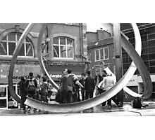 teenagers meeting Photographic Print