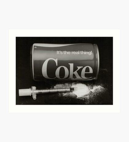 coke the real thing Art Print