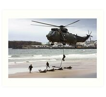 soldiers on a rescue mission Art Print