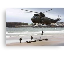 soldiers on a rescue mission Canvas Print