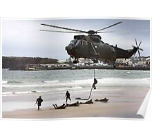 soldiers on a rescue mission Poster