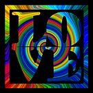 retro color spiral square love art by dedmanshootn