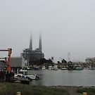 Moss Landing a Working Harbor by Sandra Gray