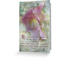 Children-inspirational Greeting Card