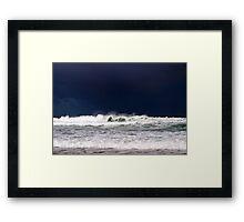 storm approach Framed Print