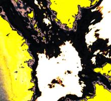 Black and yellow phoenix bird thing Sticker