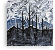 Charred Landscape Canvas Print