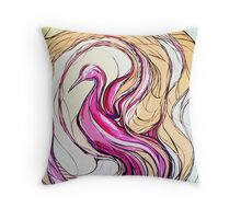 Awakening of the Stork Throw Pillow