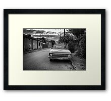 An old cars is left to decay in the backstreets of Adelaide. Framed Print