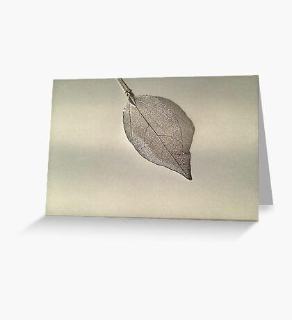 Fake Leaf with Shadow Greeting Card