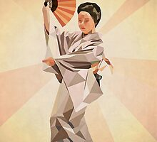 polygonal japanese dancer by parisiansamurai