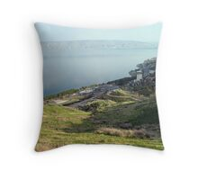 Sea of Galilee View Throw Pillow