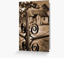Church yard Greeting Card