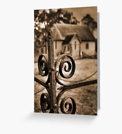 Church yard Greeting Card