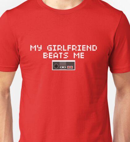 My Girlfriend Beats Me (Light Text) Unisex T-Shirt