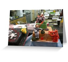 Workshop for birthday cakes Greeting Card