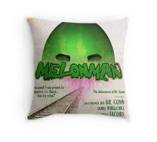 Melonman Poster Throw Pillow