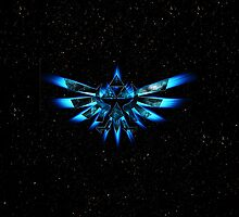 Zelda Triforce in Blue Flame by neutrone
