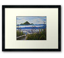 Whale Island NZ Framed Print