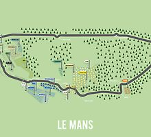 Le Mans Map by danbathie