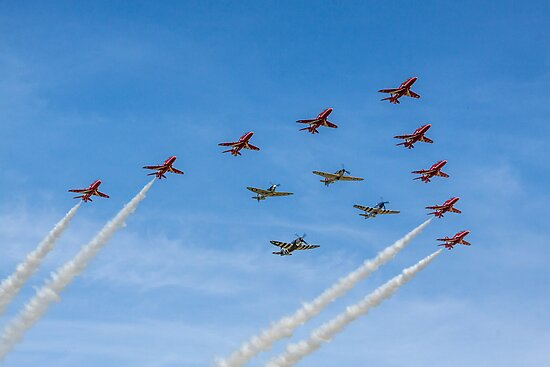 Red Arrows and Eagle Squadron Team by Colin Smedley