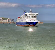 saying goodbye to the white cliffs of Dover  by larry flewers