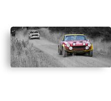 Fiat 124 Abarth Rally Car (splash of colour) Canvas Print