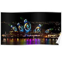 Headphone Sails - Sydney Vivid Festival - Sydney Opera House Poster