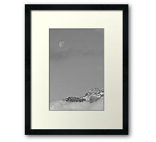 Daylight Moon Framed Print
