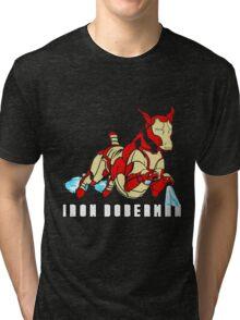 Iron Doberman Tri-blend T-Shirt