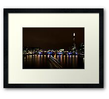 View from the Millennium Bridge 1  Framed Print