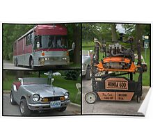Eagle Motor Coach RV and Honda 600 Mini Car Poster