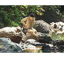 Boy by the river, Goa India Photographic Print