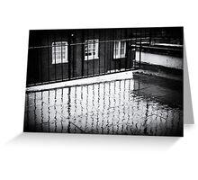 Rain and balcony Greeting Card