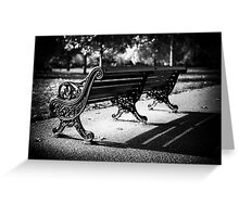 Bench Greeting Card