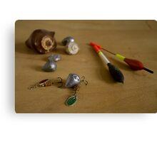 fishing supplies Canvas Print