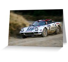 Lancia Stratos HF Rally Car 2 Greeting Card