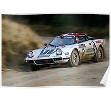 Lancia Stratos HF Rally Car 2 Poster