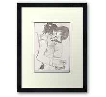 A love best plugged in Framed Print