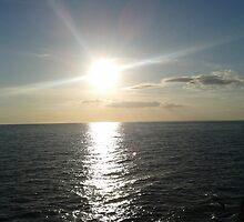 Sea in evening sun by Alien Banana