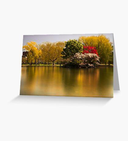 Boston Commons Greeting Card