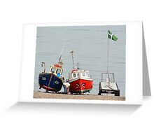 Fishing Boats at Rest Beer Devon Greeting Card