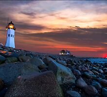 Scituate Light by Kerim Hadzi