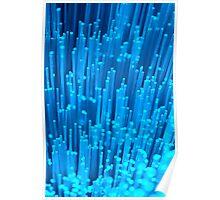 Luminous flux - blue Poster