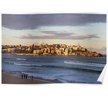 Sunset on Bondi Beach Poster