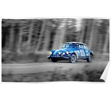 Citroen SM Bandama Rally Car(splash of colour) Poster